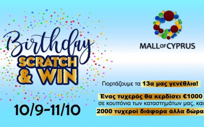 13th Birthday Scratch & Win Competition!