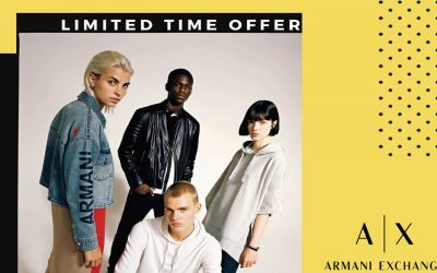 LIMITED TIME OFFER – Armani Exchange at the Mall of Cyprus
