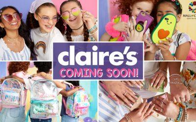 Η εταιρεία Claire's, αναζητά πωλήτριες, για το νέο κατάστημα της, στο Mall of Cyprus.